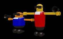 Robo and Mobo (Bonanza Bros.)