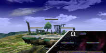 Miiverse Preview: Brawl Battlefield with Melee Battlefield over Omega