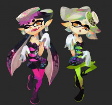 (now for 293 points!) Callie & Marie (Splatoon) Over Anyone!