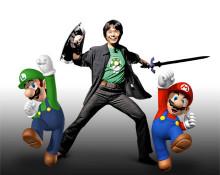 Shigeru Miyamoto over Link