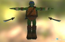 Leonardo over Link (TMNT)