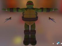Raphael over Ryu (TMNT)