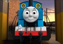 Thomas the tank engine over Train