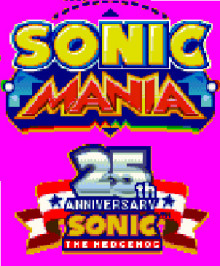 Sonic The Hedgehog 25th Anniversary Logo In Title