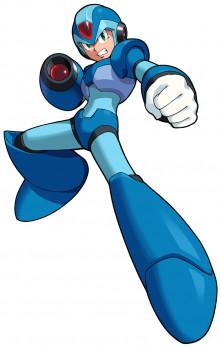 X (Mega Man X) Over Samus