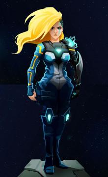 Lt. Kai Tana over Zero Suit Samus