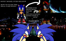 Sonic Model over Shadow the Hedgehog (The True Fake Sonic)