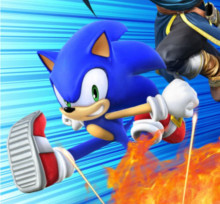 Make Sonic's in game model look like he does on the complete game cover.