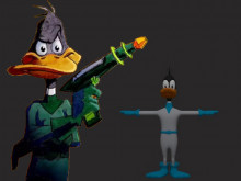 Duck Dodgers over Falco