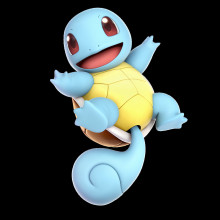 squirtle over pikachu
