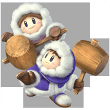 Ice Climbers Over Villager