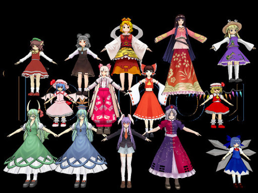 Touhou character mods for SSB4!!