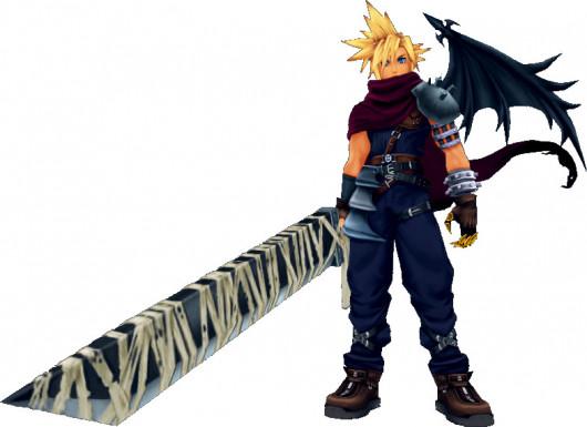 Kingdom Hearts 1 skin over Cloud!
