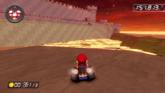 Incendia Castle, the custom track from mkwii