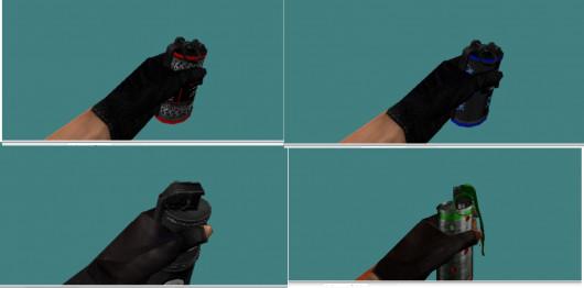 Make p and w models + Grenade retexture