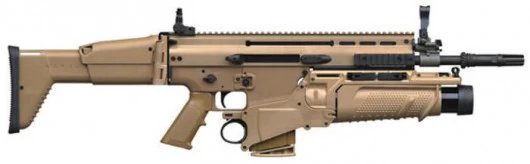 SCAR-L Desert Yellow + Mk. 13 + Working Lazer For SMG1