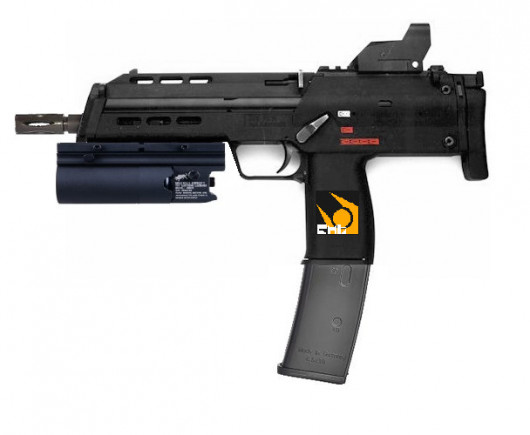 Mp7 with XM203 Grenade Launcher