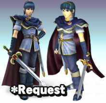 Melee and Brawl Marth Model Import preview