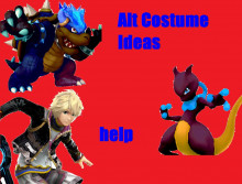 A few character color alts preview