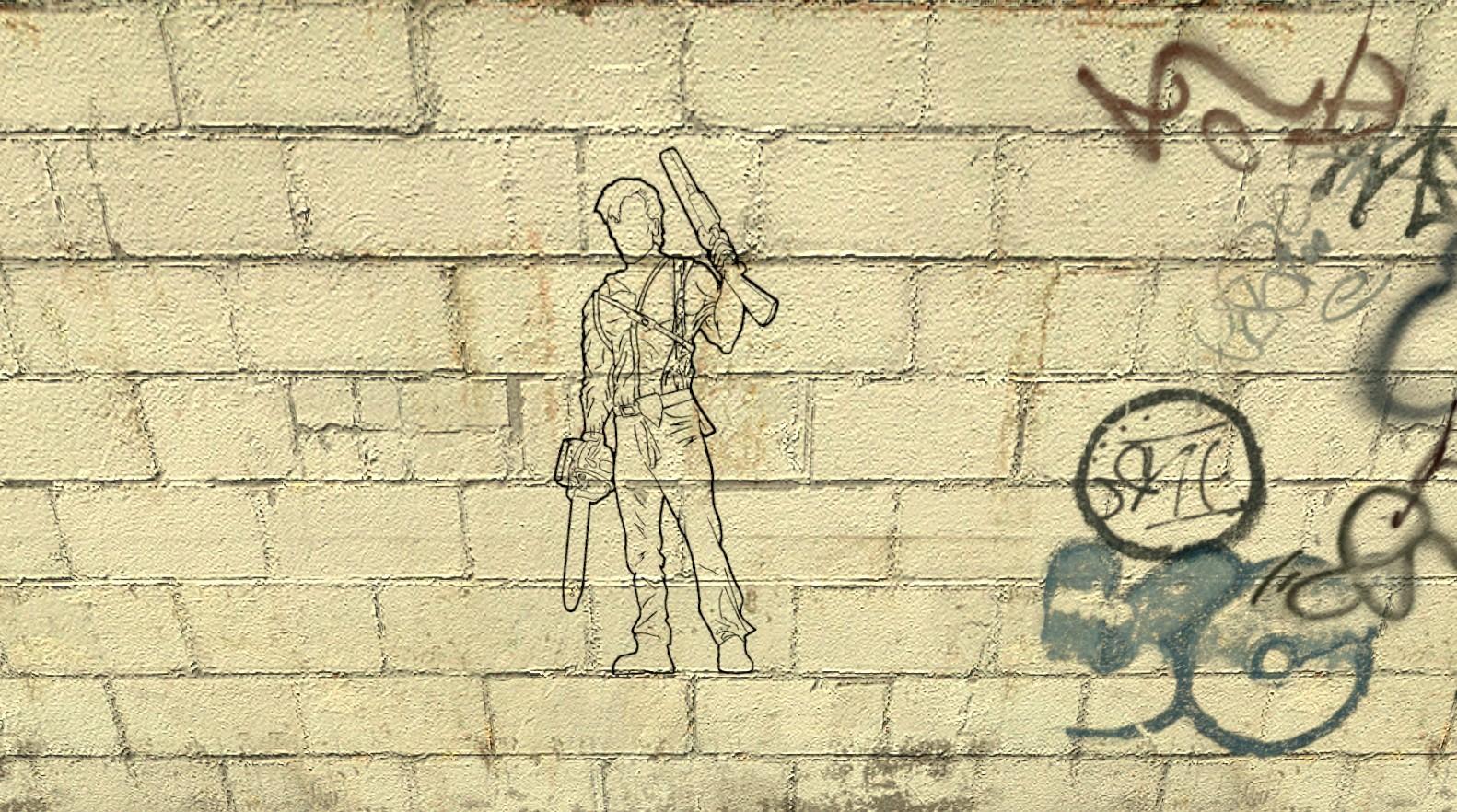 Army of Darkness Stencil | GameBanana Sprays