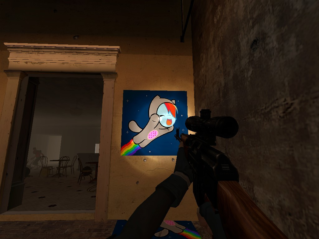 Nyan Rainbow Dash (Left 4 Dead 2 > Sprays > Game