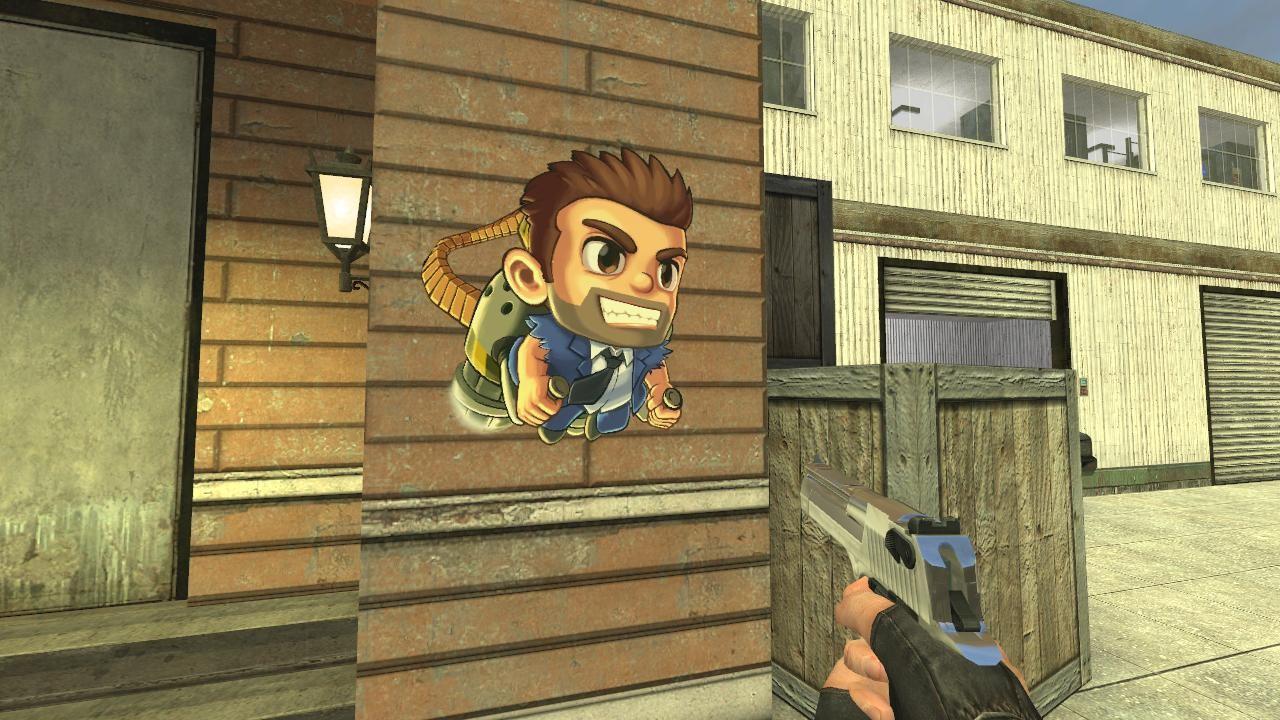 Jetpack Joyride Barry   Counter-Strike: Source Sprays