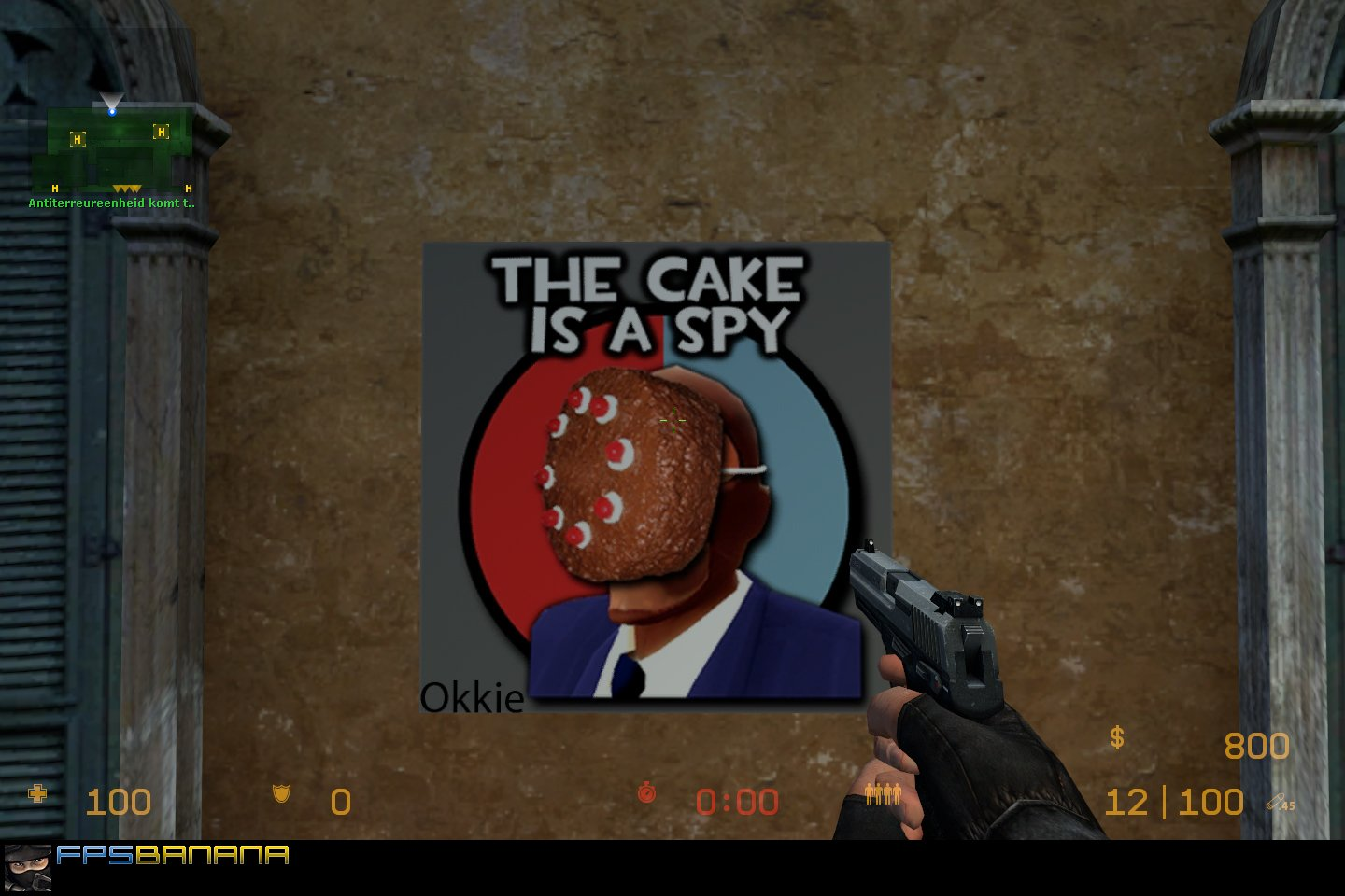 Portal/TF2 Cake is a spy! | Team Fortress 2 Sprays