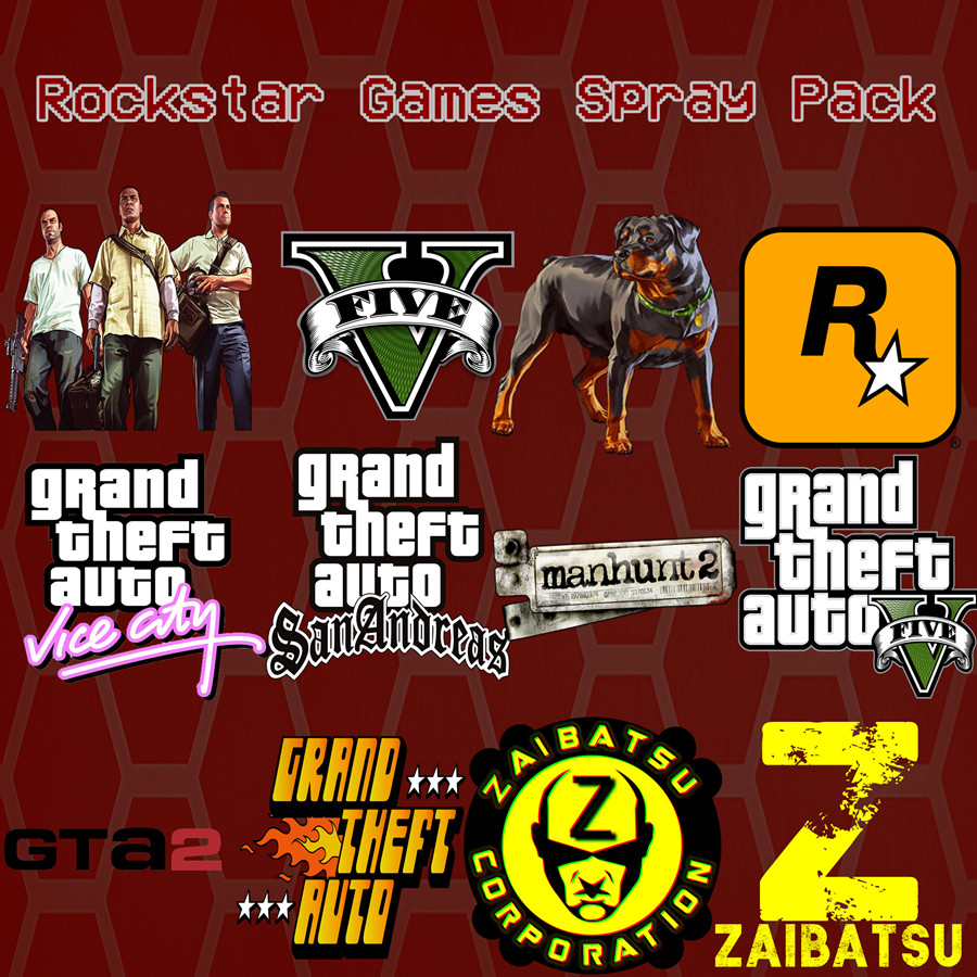 Rockstar Games Spray Pack [Team Fortress 2] [Sprays]