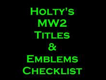 Title and Emblem Checklist