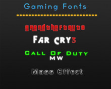 Gaming fonts