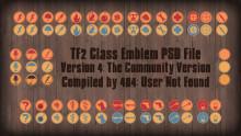 [PSD] TF2 Class Emblems v4