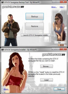 GTA IV Savegame Backup Tool + GTA IV Savegame Inst