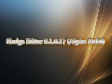 Sledge Editor 0.1.0.17 (Alpha Build)