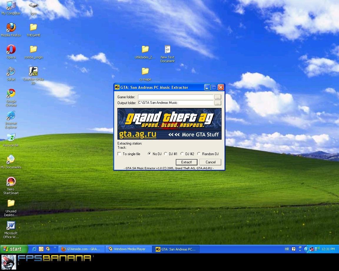 GTA San Andreas Radio Extract Tool screenshot
