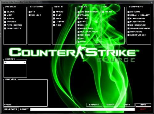 Counter-Strike: Source Buy Script Generator 2013 Tool screenshot #1