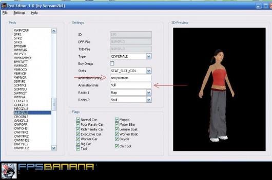 PED Editor Tool screenshot #1