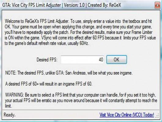 GTA:VC FPS Limit Adjuster