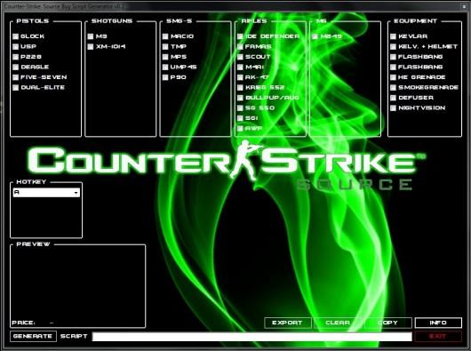 Counter-Strike: Source Buy Script Generator 2013