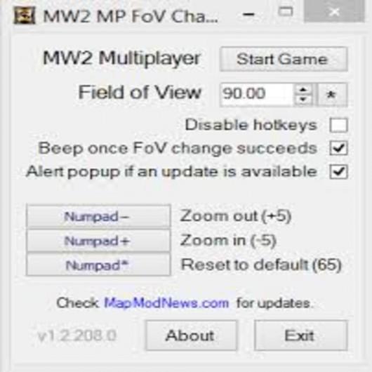 Mw2 Mp FoV Changer