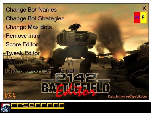 BATTLEFIELD 2142 EDITOR V3.4