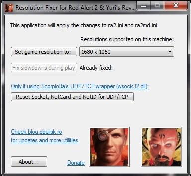 Resolution fixer for yuris revenge make any res Tool screenshot #1.