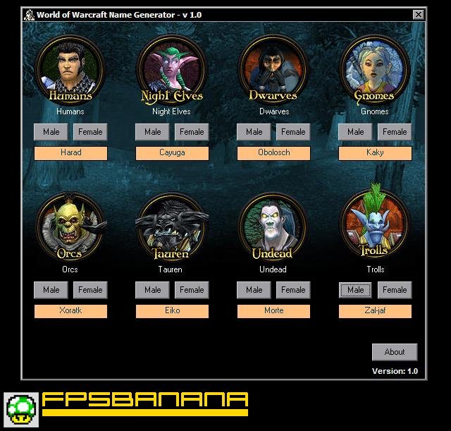 WoW Name Generator V1.0 (World of Warcraft > Tools > Other ...