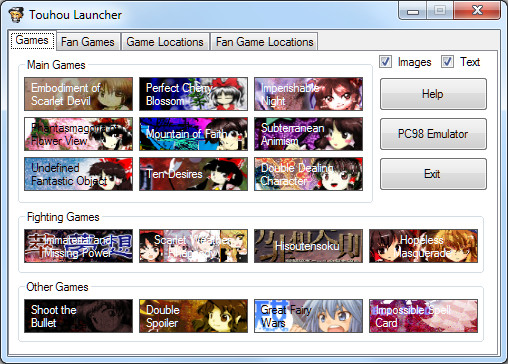 Touhou Launcher 1.12 + Chars