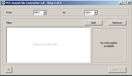 MP3 to ADX Converter | F-Zero GX Modding Tools MP3 to ADX Converter