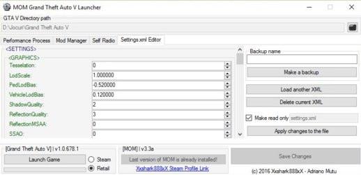 MOM Launcher 3.4.1 + Live Handling Editor