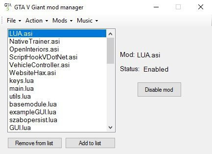 Giant Modmanager