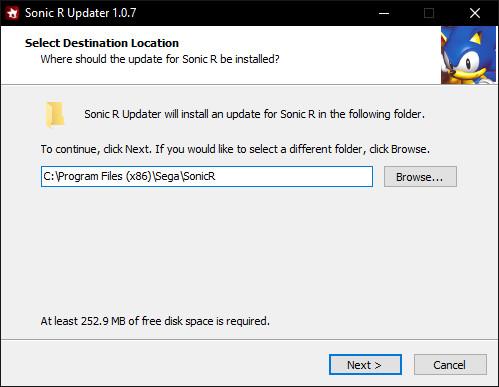 Sonic R Updater