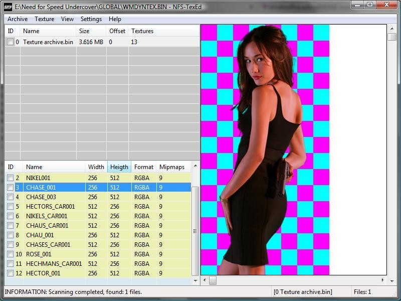 NFS-TexEd 0.8.0.7 Tool screenshot #1