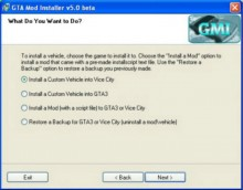 GTA Mod Installer v5.0 beta preview