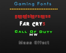 Gaming fonts Tool preview